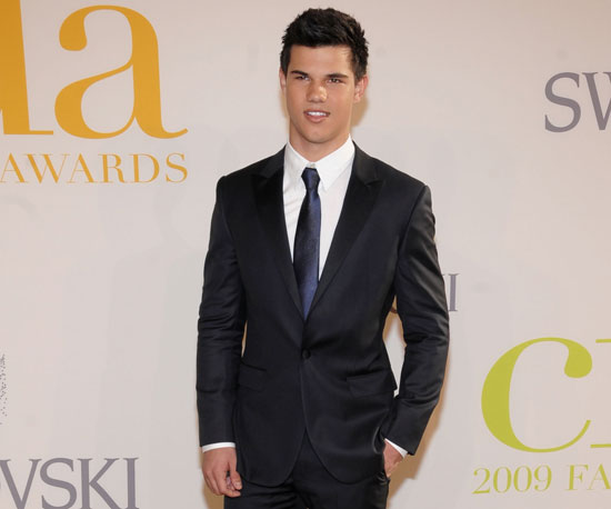 Slide Image Of Taylor Lautner In A Suit At CFDA Awards