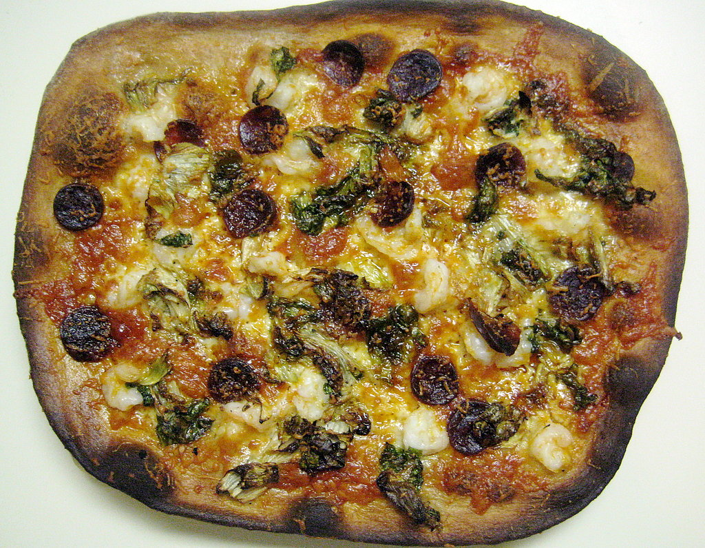 Manchego Pizza With Chorizo and Shrimp