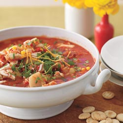 Fast & Easy Dinner: Red Chowder With Leek, Corn, and Crab