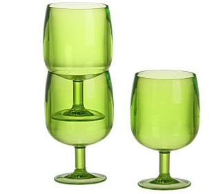 Acrylic Stacking Wine Glasses