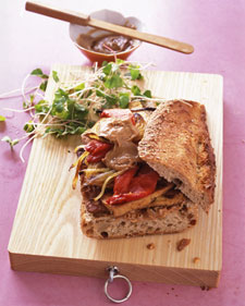 Fast & Easy Dinner: Tofu Sandwich With Peanut-Ginger Sauce