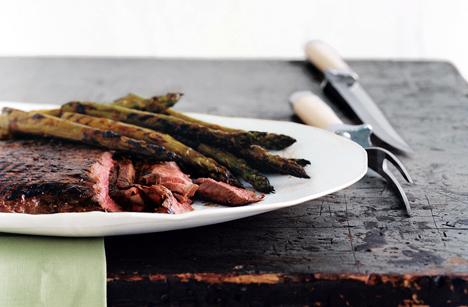 Fast & Easy Dinner: Grilled Glazed Steak and Asparagus