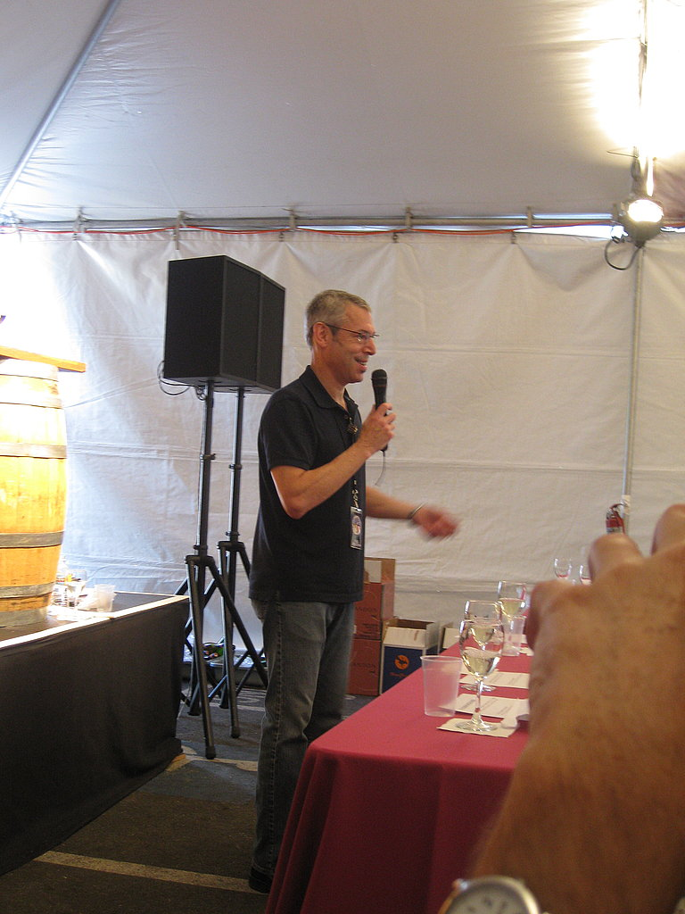 Josh Wesson, the host of the seminar and co-founder of Best Cellars in New York City.