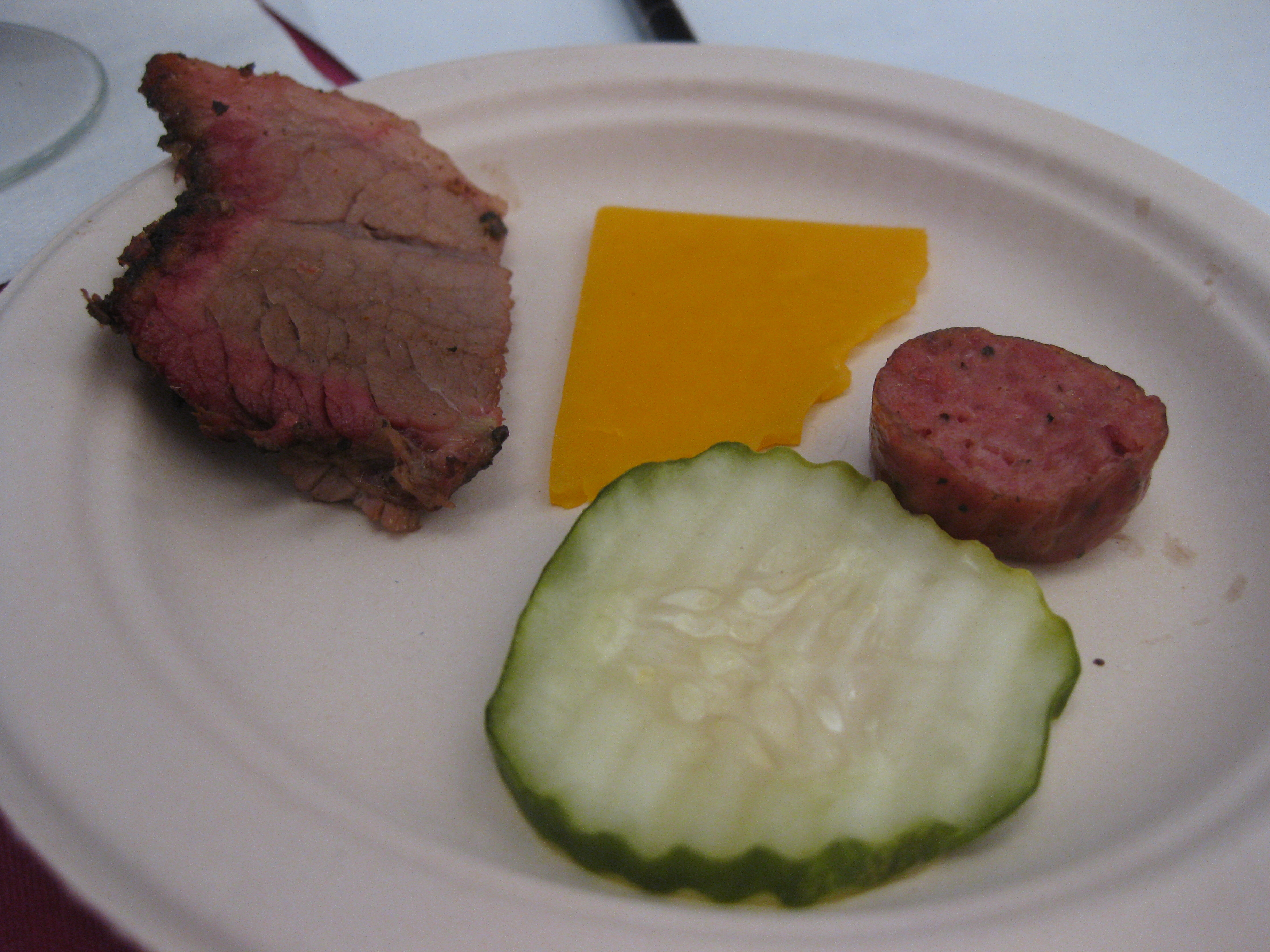 A sample plate of food.