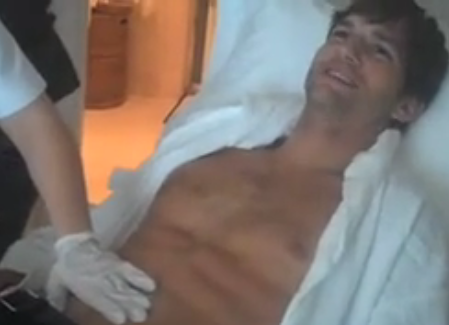 Ashton Kutcher Chest Wax Video