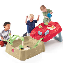 Toy Box: Step2 Water Rush Quarry Sand Box Toy