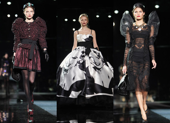 Dolce and Gabbana Autumn 2009, Milan Fashion Week