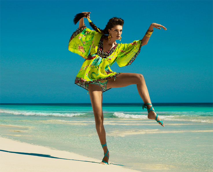 matthew williamson for h and m summer campaign daria With robe plage h m
