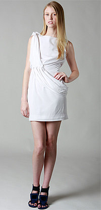 Waterfall Drape Dress by Nuj Novakhett - FREE UPS 2nd Day Air - buydefinition.com