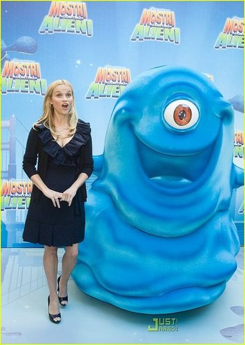 Reese @ Monsters Vs Aliens Photocall in Rome