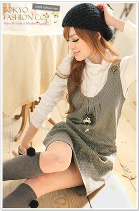 Polka Dot Button Dress