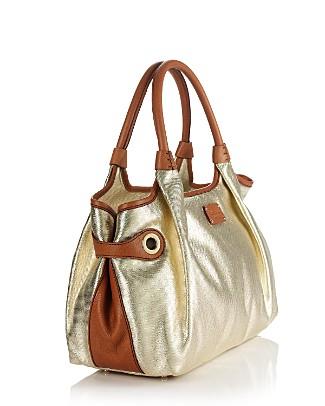 kate spade new york Okracoke Stevie Metallic Cotton/Leather Tote - All Handbags - Bloomingdales.com