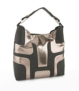 Geometric Hobo Bag