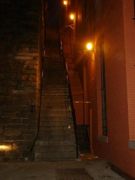 Exorcist Steps - UPDATED with closeup of spooky pic!! And again with Facial Tags.