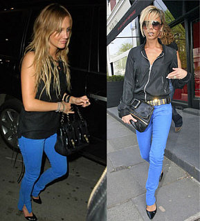 Who Wore It Better? Electric Blue Jeans