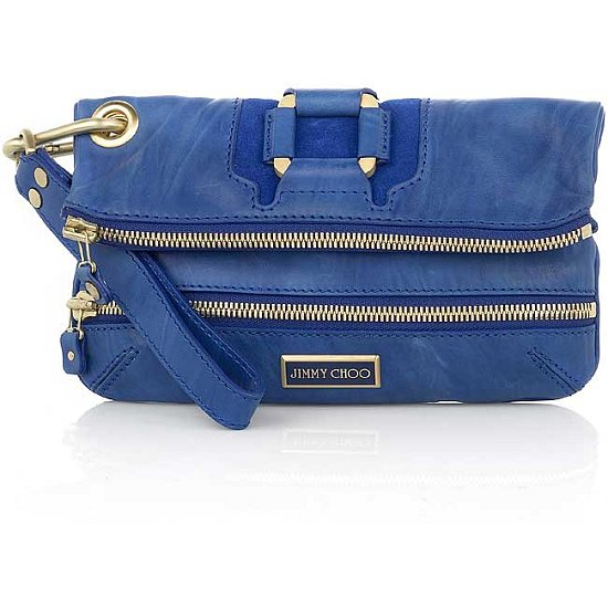 The Bag to Have: Jimmy Choo Cobalt Leather Clutch