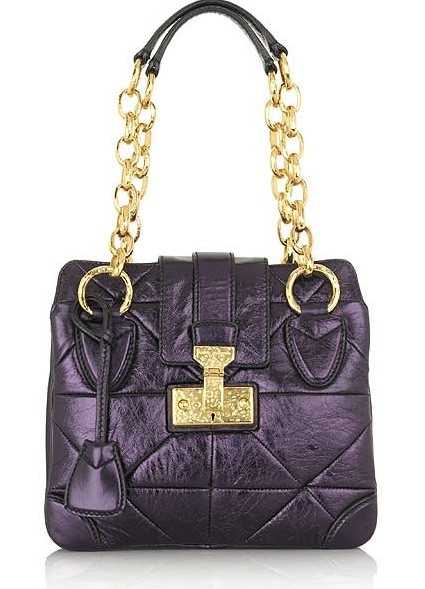 Trend Alert: Colored Metallic Handbags