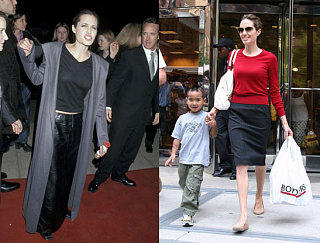 Compare & Contrast: Angelina Jolie, Pre and Post Mommyhood