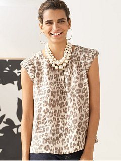 Fabworthy: Banana Republic Silk  Leopard Print Top
