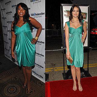 Who Wore It Better? BCBG Green Drape Sheath Dress