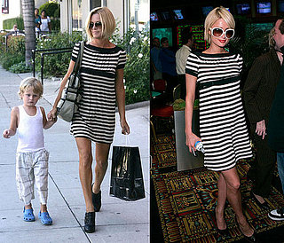 Who Wore It Better? Ella Moss Black and White Stripe Dress