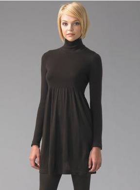 The Look For Less: Black Turtleneck Dress