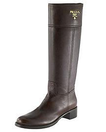 Prada Leather Riding Boot