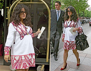 Salma Looks Like A Chic Mommy to Be