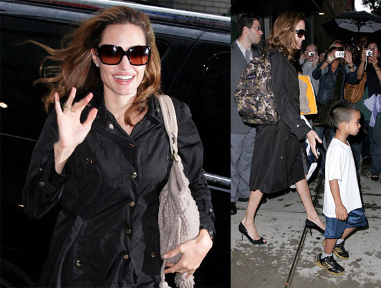 Angelina and Maddox at NYC School...For the Last Time