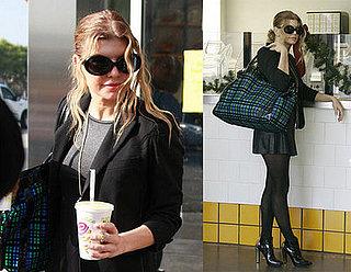 Fergie drinking Jamba Juice
