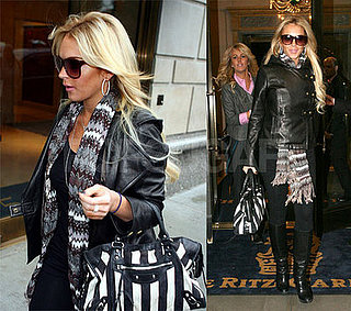 Lindsay Lohan in New York With Dina and Riley