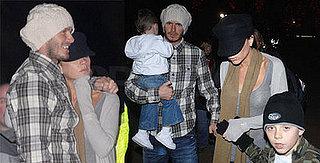 Beckhams Huddle Together in London