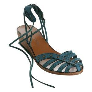Marc by Marc Jacobs turquoise strappy leather sandal