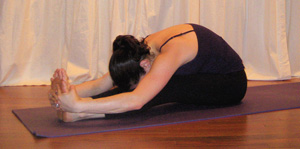 Strike a Yoga Pose:  Seated Forward Bend