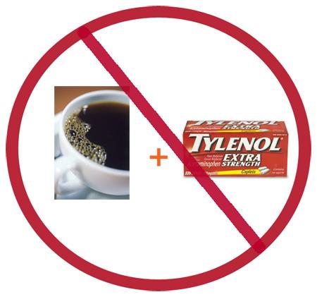 Caffeine + Tylenol = Not Good