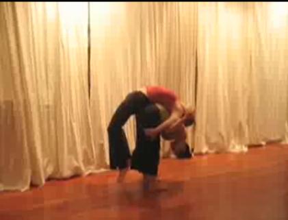 Partner Yoga Pose: Backpack