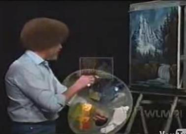 Tribute To Bob Ross, Landscape Painter Extraordinaire