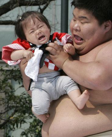 """Baby-Cry Sumo"" Contest"