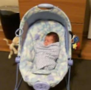Cute Alert: Hiccuping Newborn