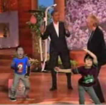 Yo Gabba Gabba Kiddies, Barack Obama, and Ellen DeGeneres Have a Dance Party