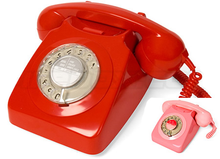 Love It or Leave It? Retro Red and Pink Telephones