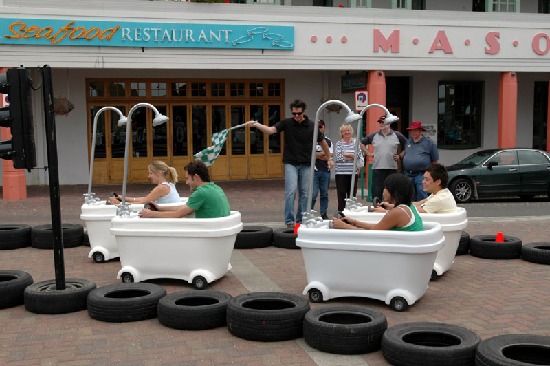 Bathtub Racer Cleans Competition?