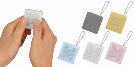 Electronic Bubble Wrap Keychain