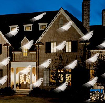 display ghosts and goblins on your house popsugar tech. Black Bedroom Furniture Sets. Home Design Ideas