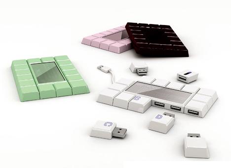 Chocolate Bar USB Hub: Totally Geeky or Geek Chic?
