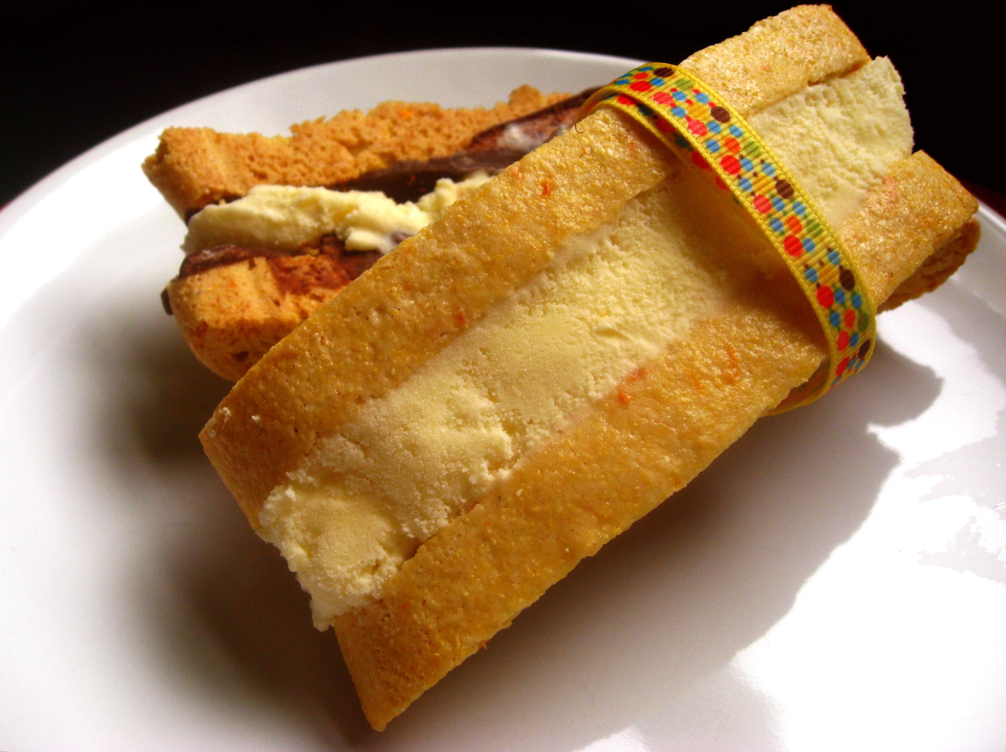 Summer of Sandwiches: Chocolate Citrus Biscotti with Orange Ice Cream
