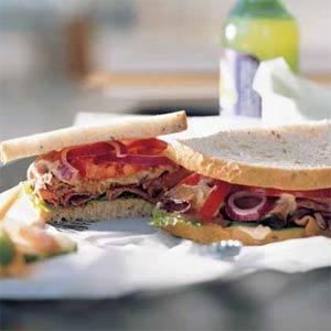 Monday's Leftovers: Deluxe Roast Beef Sandwich