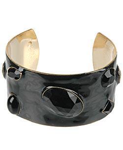 Black jeweled cuff