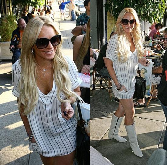 Lindsay Lohan Gets A Little Moody