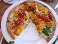 Rainbow Tomato Pizza